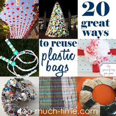20 plastic bag recycle, upcycle, and reuse crafts and projects