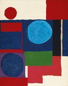 Blue in Blue with Red and White - Patrick Heron