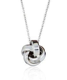 Another great find on #zulily! Sterling Silver Love Knot Pendant Necklace #zulilyfinds