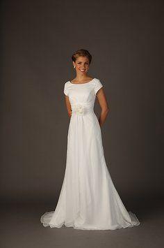 Beautifully Modest B3134 Modest Temple Ready Wedding Dress On Sale $334 Size 6 #tourofelegancebridal