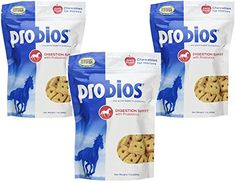 3 Pack Probios Probiotic Treats for Horses Apple Flavor 1 Pound each ** Check this awesome product by going to the link at the image. (This is an affiliate link) Horse Treats, Dog Treats, 1 Pound, Animal House, Treat Yourself, Pet Supplies, Health And Wellness, Packing, Horses