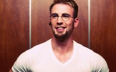 t Chris Evans wearing glasses.