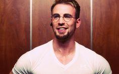 t Chris Evans wearing glasses.