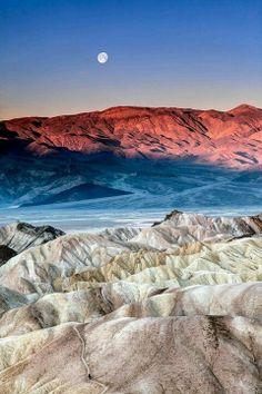 Death Valley Moonrise, California..