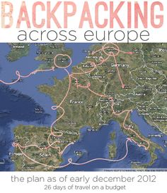 backpacking path ideas -- click the link, there is a really cute quote about studying abroad