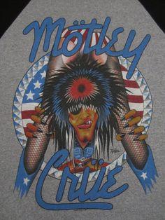 Original MOTLEY CRUE vintage 1987 tour T SHIRT jersey