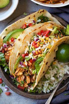 Salsa Chicken Tacoscountryliving