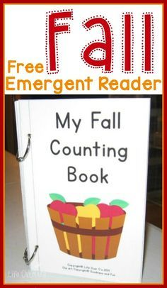 FREE.  Fall Emergent Reader: Free Printable Counting Book.  A balanced approach to teaching reading.  Phonics practice with word families, but also sight words with simple books kids can read themselves. This is a fall emergent reader to teach number words to your students.  Minimal text and simple pictures are perfect for our special needs students.  Download this FREE book at:  http://lifeovercs.com/fall-emergent-reader-counting-book/