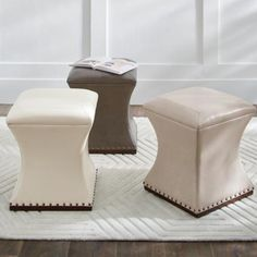 Bar Counter, Counter Stools, Cream Living Rooms, Bench Furniture, Outdoor Furniture, Grandin Road, Leather Ottoman, Ottoman Bench, Bonded Leather