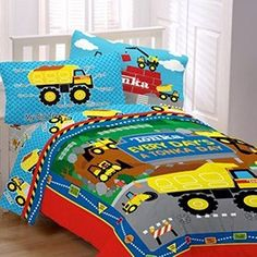 Tonka World Reversible Bedding Comforter And Twin Sheet Set , Http://www.