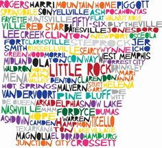 Arkansas Map in Words - My Natural State: Guest Post on P. Allen Smith's Blog by Tobi Fairley