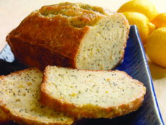 Tart, sweet lemon poppy seed bread recipe from Sister Schubert.