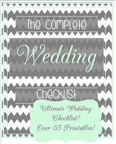 Ultimate Wedding Planner - Mint Green Blue and Grey Over 55 Organizational Printables Wedding Binder Set  Wedding Checklist INSTANT DOWNLOAD...