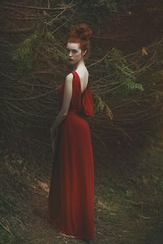 """Lady in Red""— Photographer: Agnieszka Lorek – A.M.Lorek Photography Model: Ophidia"