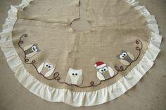 Owl Applique Tree Skirt :: Hometalk