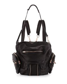 Marti Soft-Wash Lambskin Backpack, Black - Alexander Wang