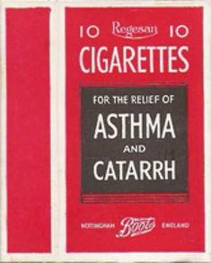 Cigarettes for the relief of Asthma and Catarrh