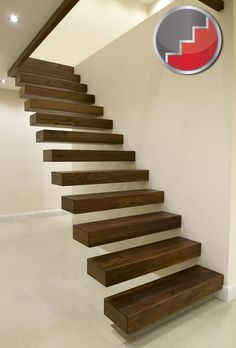 pics of floating stairs | Floating Staircases | Black Walnut Floating Staircase