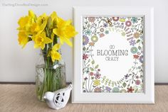 Free Blooming Print for Spring- available in two colors