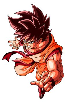 Kaioken Goku (Alt.2) by RighteousAJ on @DeviantArt