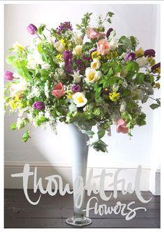 Seasonal wedding flower arrangements for Thoughtful Flowers