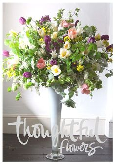 Seasonal wedding flower arrangements for Thoughtful Flowers