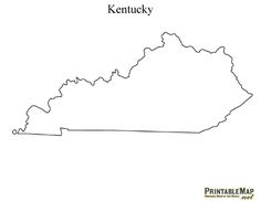 Printable Map of Kentucky