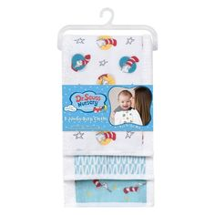 Babysupermarket is proud to offer Trend Lab Dr. Seu... see it person or online at http://babysupermarket.com/products/trend-lab-dr-seuss-cat-in-the-hat-burp-3-pack-jumbo-burp-cloth-set?utm_campaign=social_autopilot&utm_source=pin&utm_medium=pin