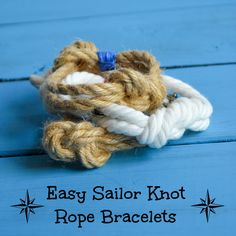 Easy Nautical Rope Bracelet Tutorial - Homemade Gift Ideas 6 -- I'm so making some of these!!