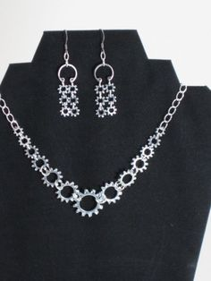 Lock Washer Necklace and Earrings Set Two - Hardware Chandeliers By HardwareHoney Jewelry