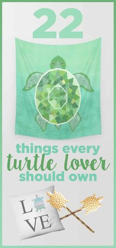 22 Adorable Things For Anyone Who Loves Turtles  *it does bother me that this is a mix of turtle things and tortoise things. But that doesn't make them any less great. Just mislabeled.