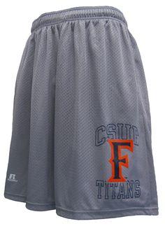CSUF Silver Mesh Shorts