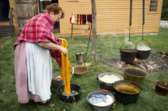 Natural Dying of yarn  Genesee Country Village & Museum Ruby Foote Photography