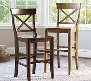 Aaron Barstool from Pottery Barn. Way too expensive and probably owned by a million plus people but I just love the design and look of these chairs. I am going to get some after I drug my husband and he doesn't notice how much I've spent.