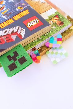 Perler bead paperclip bookmarks