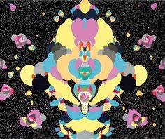 "Saatchi Art Artist zuzka bluberry badinkova; Painting, ""Space  monkey (object - objects  in space)"" #art"