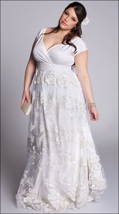 Second Marriage Wedding Dresses Plus Size