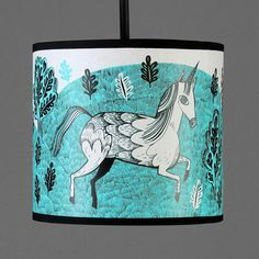 unicorn lampshade - turquoise - regular by lush designs - Lush Designs - iapetus