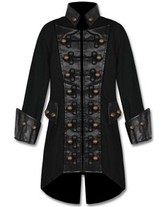 The variant version of the popular Hellraiser gothic coat by Raven SDL is a long black cotton jacket detailed with a unique chest-plate design. Description from pinterest.com. I searched for this on bing.com/images