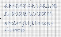 counted backstitch script alphabet - - Yahoo Image Search Results
