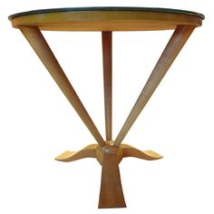 Period French Art Deco Gueridon with Mirrored Top   From a unique collection of antique and modern gueridon at http://www.1stdibs.com/furniture/tables/gueridon/