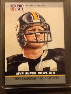 1990 Pro Set Superbowl Xiii Mvp Terry Bradshaw #13 Steelers #PittsburghSteelers