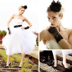 Black Lace Gauntlets for Punk Rock Wedding