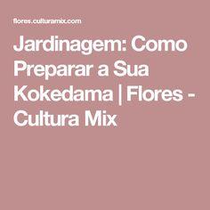 Jardinagem: Como Preparar a Sua Kokedama | Flores - Cultura Mix