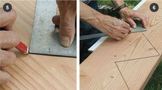 Laying Out Basic Stair Stringers - Fine Homebuilding Stair Stringer Layout, Stair Layout, Stairs Stringer, Stair Wall Decor, Stair Walls, Building Stairs, Building A House, Woodworking Projects Diy, Wood Projects