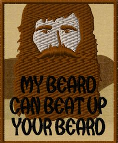 OMLpatches.com - My Beard Morale Patch, $6.50 (http://www.omlpatches.com/my-beard-morale-patch/)