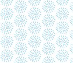 Bursting Blossom Sea Blue-medium fabric by drapestudio on Spoonflower - custom fabric - http://www.spoonflower.com/designs/3975715