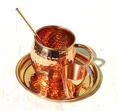 MAITHIL ART Solid Hand Hammered Copper Moscow Mule Mug with Tray, short Glass and Straws Set, Pure Thickest Copper 100% Authentic (SET OF 1) Maithil Art http://www.amazon.com/dp/B01BQ8MKEI/ref=cm_sw_r_pi_dp_s-x5wb0YN2QGW