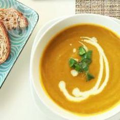 Carrot and fresh coriander soup @ allrecipes.co.uk  Works well with cumin