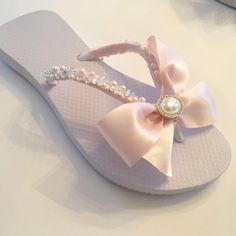 73d357843 BRIDAL Flip Flops.Blush Bridal Shoes Flip Flops. Ivory Flip Flops.  Destination Wedding.Wedged Wedding Shoes
